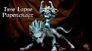 Wolf Link and Midna Papercraft Time Lapse | Speed Art