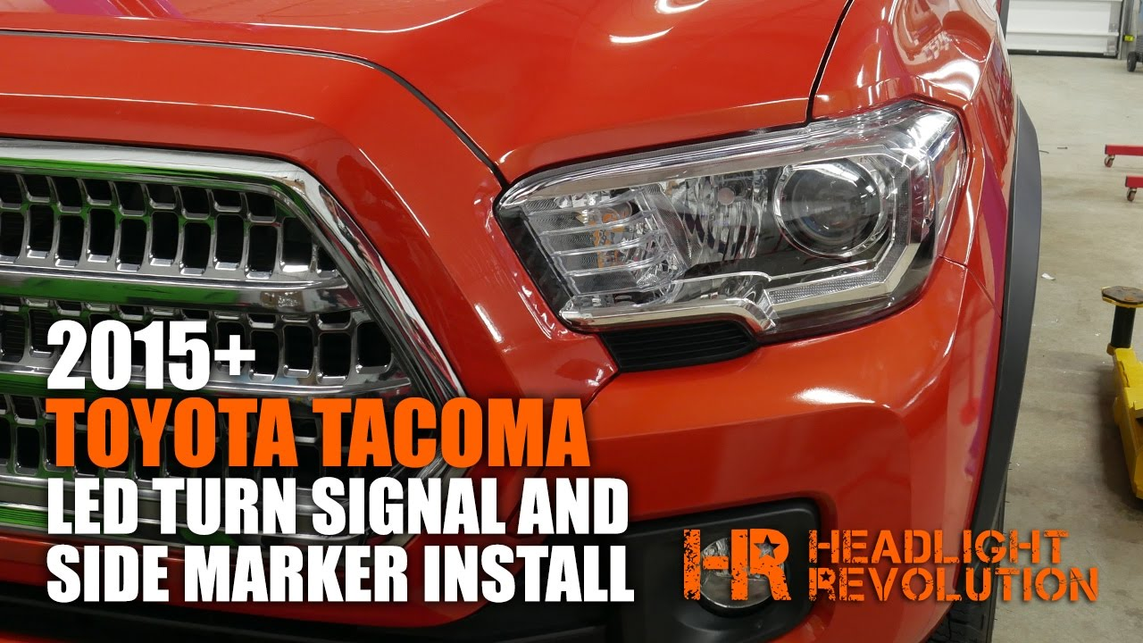 2016 toyota tacoma led front turn signal and side marker headlight revolution [ 1280 x 720 Pixel ]
