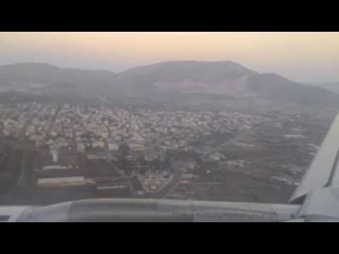 Landing and parking in Athens airport