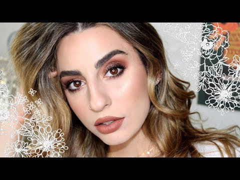 Simple Sparkly Smokey Brown Eyes! A Full Face Tutorial. thumbnail