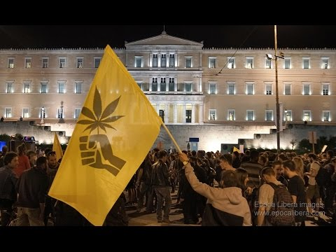 2016 Global Marijuana March hits the streets of Athens Greece