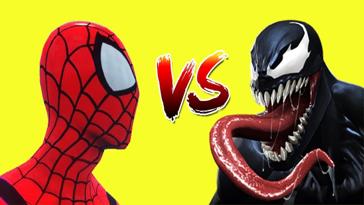 REAL LIFE Top 5 SuperHero Fights Batman VS Spiderman-Captain America VS Spiderman-Venom VS Spiderman