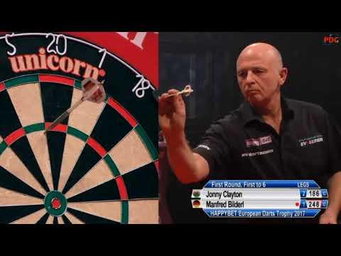 2017 European Darts Trophy Round 1 Clayton vs Bilderl