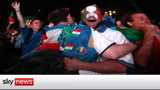 Italy fans celebrate after Italy win Euro 2020 final on penalties