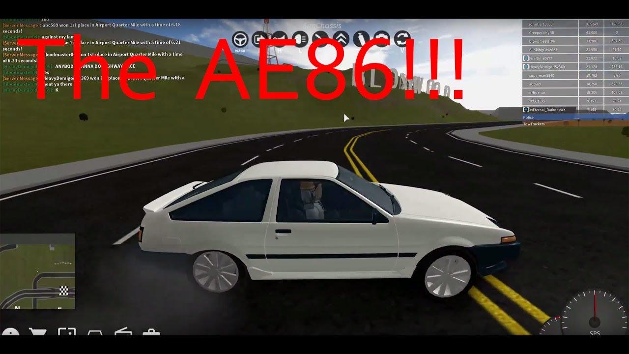 Getting The Ae86 Roblox Vehicle Simulator Youtube