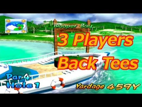 Mario Golf: Toadstool Tour (with 3 players) - Skins Match - Blooper Bay (Back Tees)