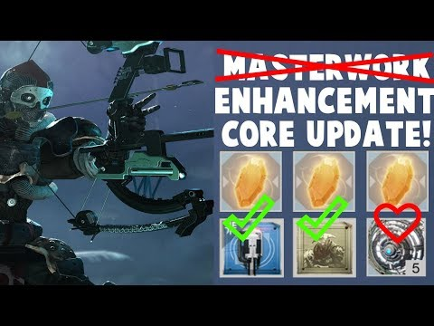 Destiny 2 - MASTERWORK CORE FARM - ENHANCEMENT CORES!