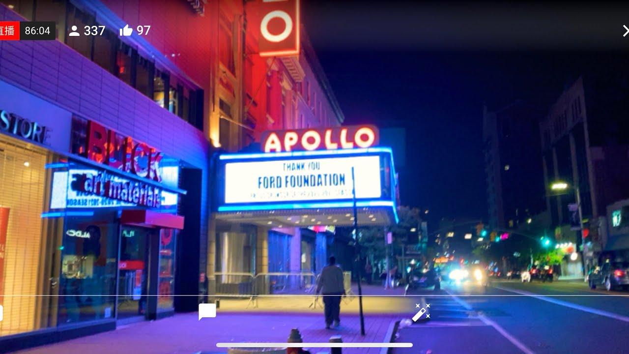 直播9/22冒险夜探纽约曼哈顿上城最危险的哈莱姆区或哈林区Harlem以及102街华人开的洗衣店是怎样的情况Live New York Manhattan  Harlem Night