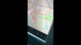 Tesla Waze Navigation Feature (Traffic Warning)