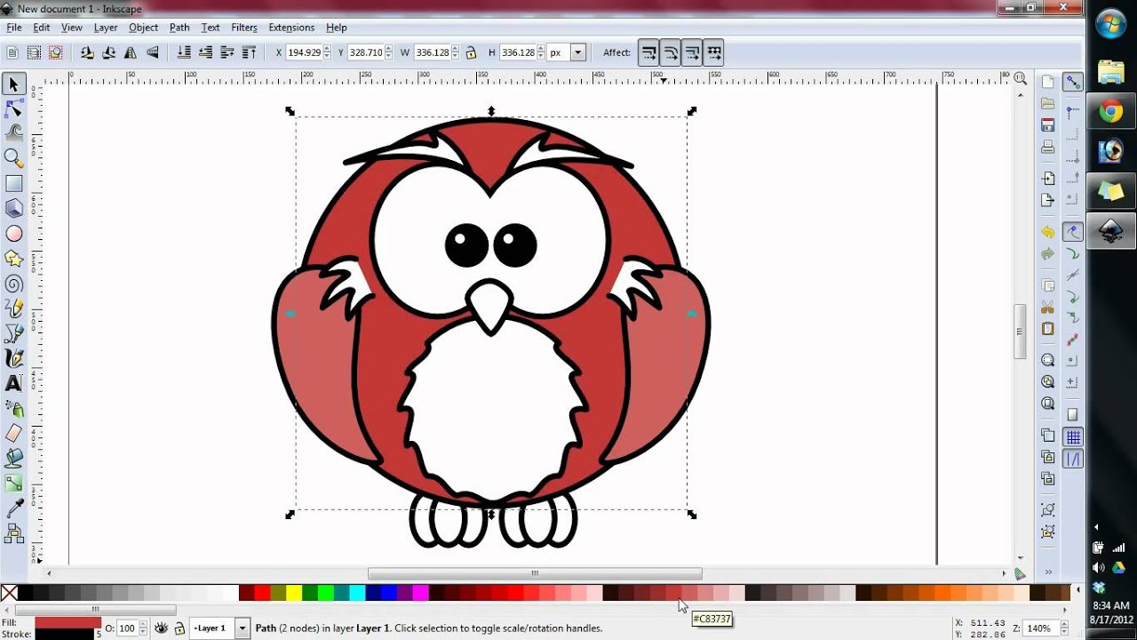 Preparing an svg in inkscape for embroidering digitizing Inkscape software