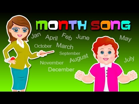 Number Names Worksheets month spelling in english : Months song | Months of the year song | Top Nursery Rhymes | kids ...