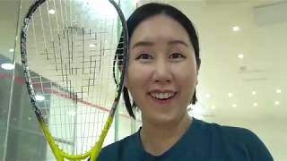[VLOG] 남편이랑 스쿼시 일일체험 하다