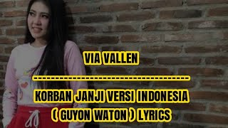 Via Vallen - Korban Janji Versi Indonesia (Guyon Waton) Lyrics