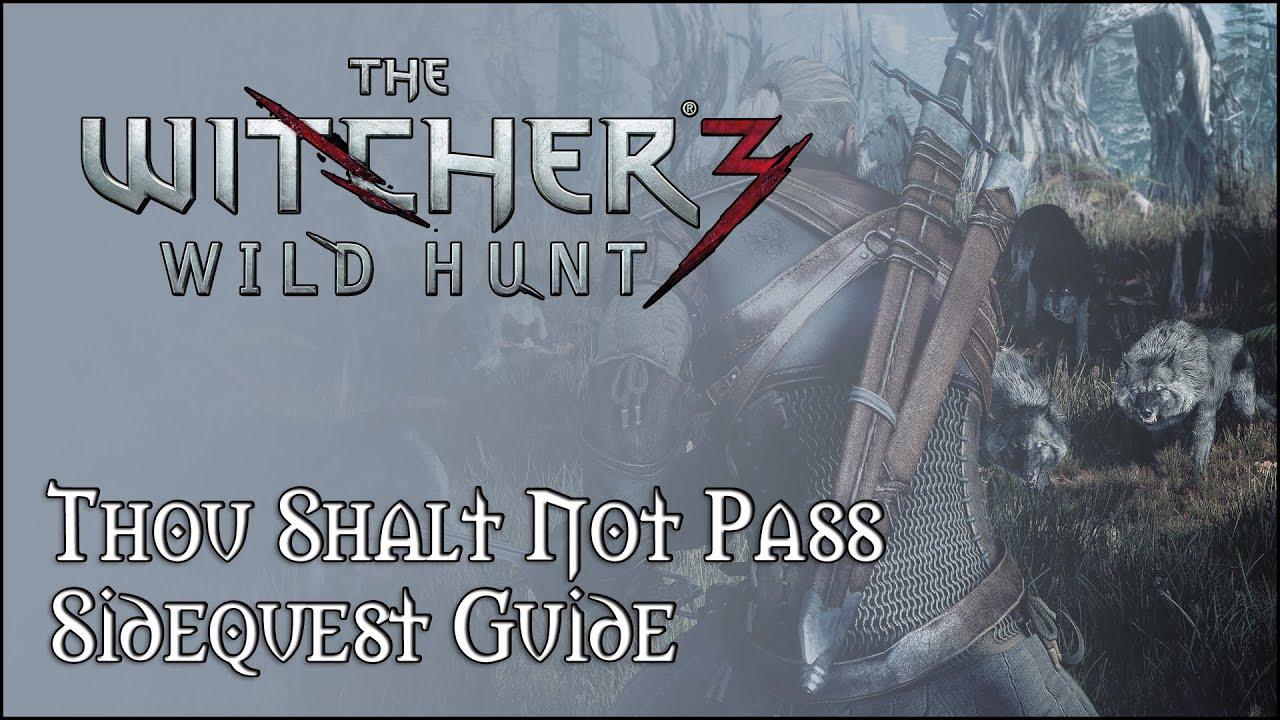 thou shalt not pass witcher