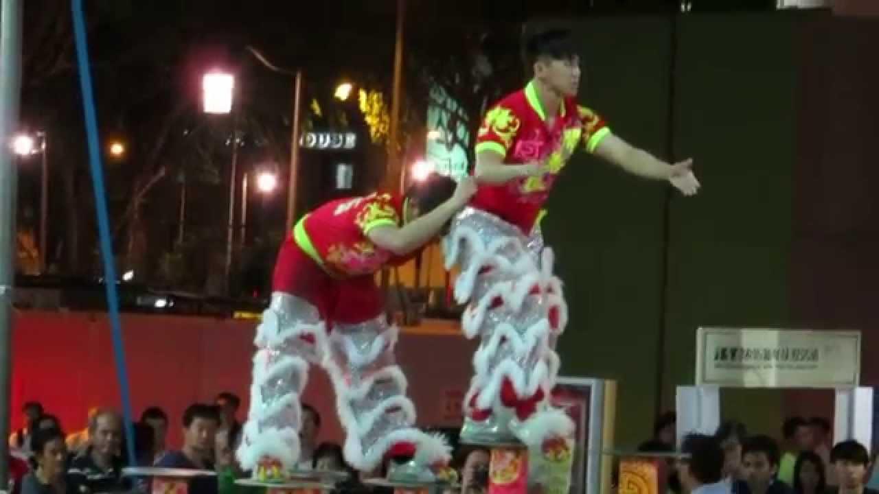 True faces of lion dancers 050215
