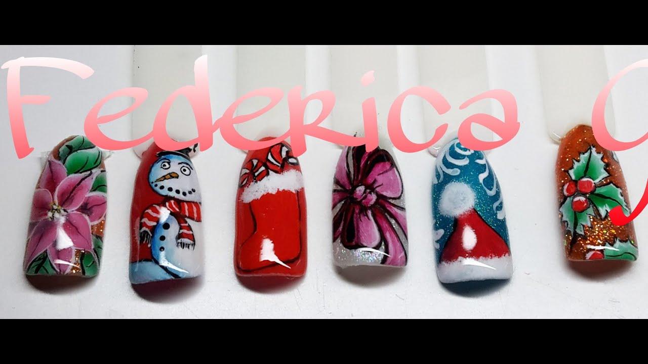 Nail art natalizie in micropittura e one stroke youtube prinsesfo Gallery