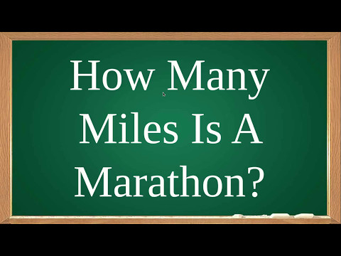 How Many Miles Is A Marathon