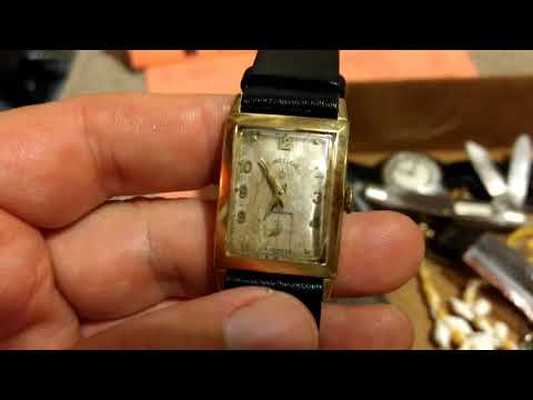 Auction Day Gold 14k Watch in the Costume Jewelry Box