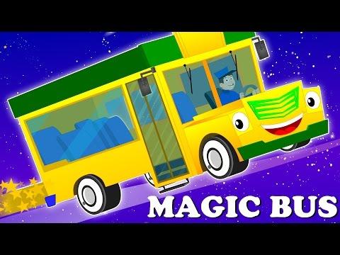 magic bus | learn colors | colors song | nursery rhymes | kids songs | baby videos | kids tv