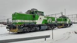 Dieselien jyrinää Kouvolan ratapihalla