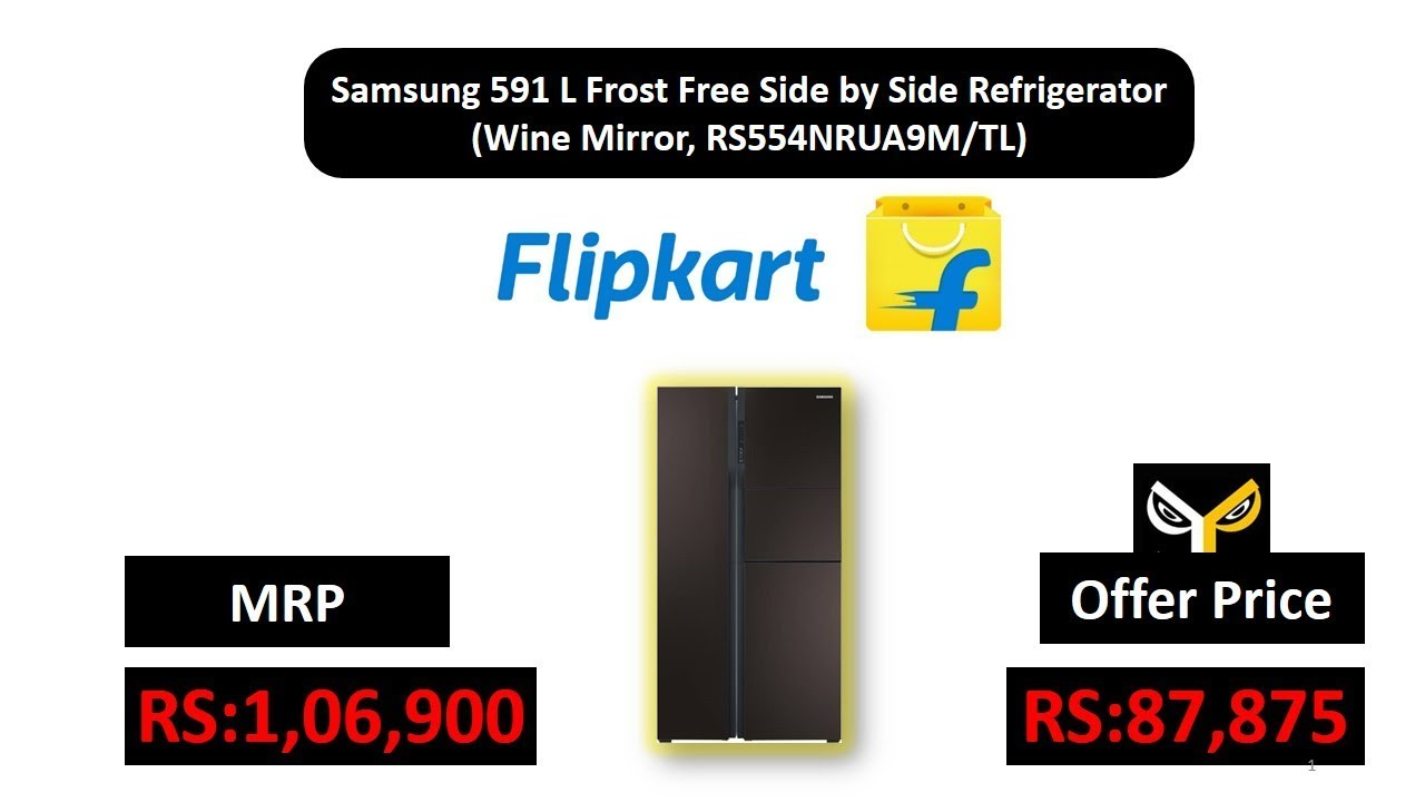 Samsung 591 L Frost Free Side By Side Refrigerator Wine Mirror