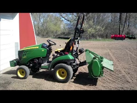 John Deere 1026R with 48 Garden Tiller YouTube