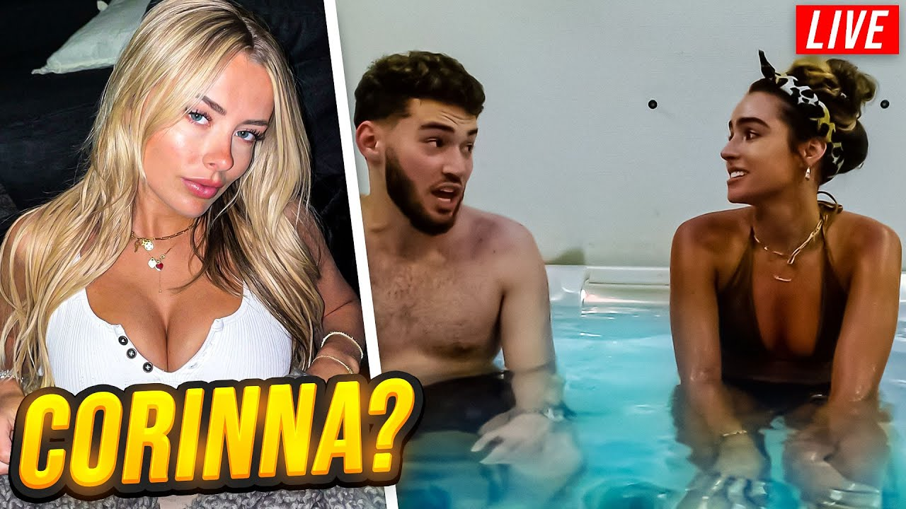 Adin Reacts to Corinna Kopf Lurking in Hot Tub Stream with Sommer Ray