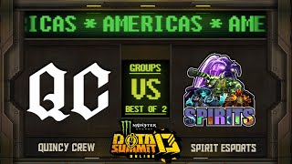 Quincy Crew vs Spirits Game 1 - Monster Energy Dota Summit 13 Online NA/SA: Groups w/ Moxxi & Neph