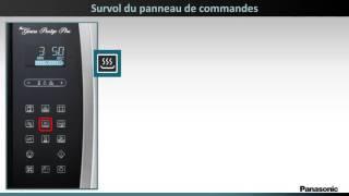 Four à micro-ondes Panasonic NNSE284 - Survol du panneau de commandes