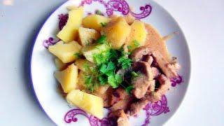 Бефстроганов из свинины в сметанном соусе видео рецепт