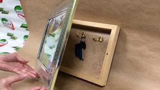 Обзор: Декоративная ключница с дверкой.