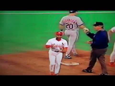 Ozzie Smith Helps Turn Triple Play Vs New York Mets