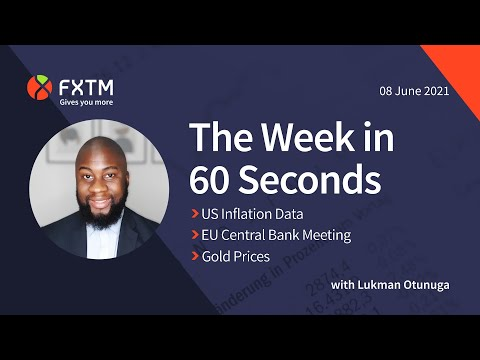US Inflation data, ECB meeting & Gold in focus - The week in 60 seconds   FXTM   08/06/2021