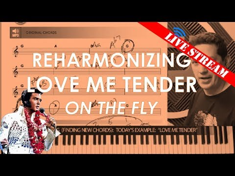 Free Piano Lesson - How to Reharmonize (use cool chords) for songs like Love Me Tender