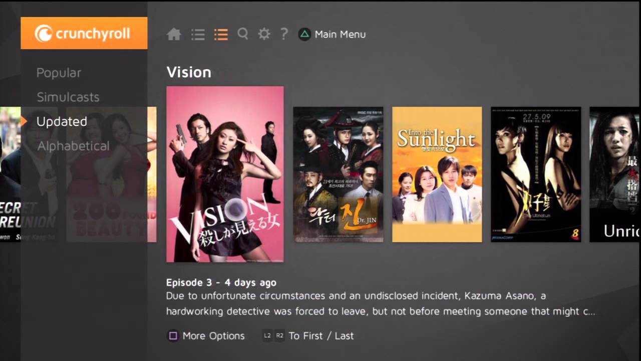 how to download crunchyroll on ps4