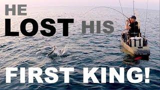 HE LOST HIS FIRST KING  ! - offshore kayak fishing pensacola florida