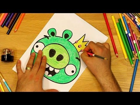 Thumbnail: Angry Birds Coloring Pages King Pig