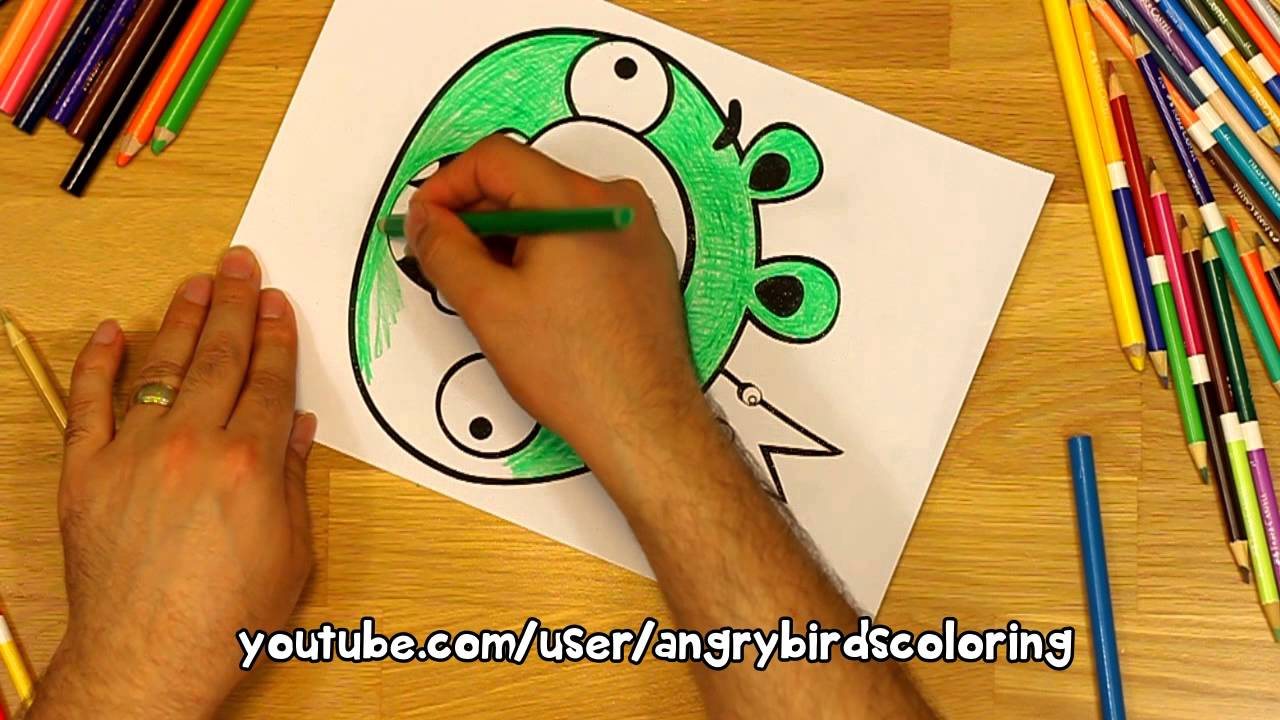 Angry Birds Coloring Pages King
