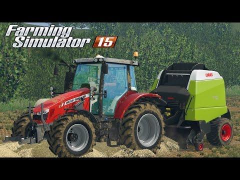 Farming  Simulator 2015 - Massey Ferguson 5712 + Claas Variant 360