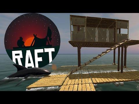 Raft - Raft Eating Sharks! - Survival on the Sea - Raft Gameplay Highlights