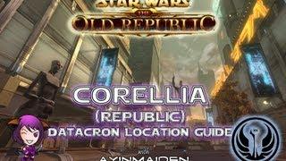 ★ SWTOR ★ - Datacron Location Guide - Corellia (Republic)