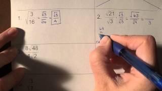 Adding, Subtracting, Multiplying, Dİviding Radicals