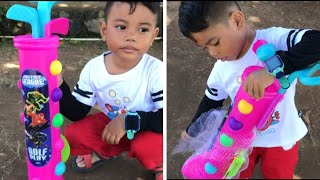 Mainan anak ❤ Zefa bermain Golf 💙 Golf toys for kids play