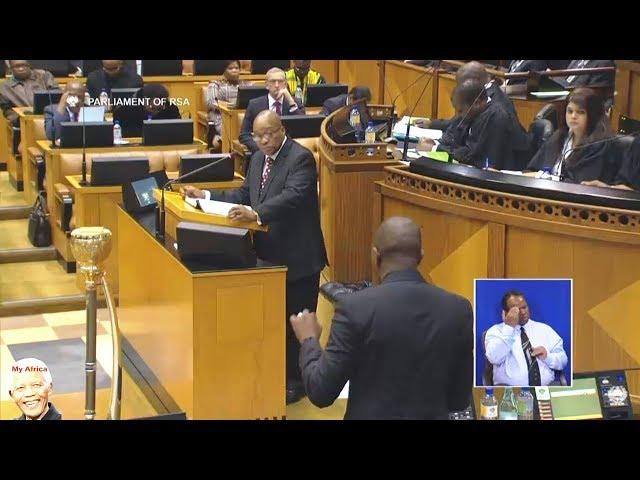 Drama In Parliament - Jacob Zuma vs Maimane - NO Love At All