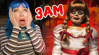 WE BOUGHT A HAUNTED ANNABELLE DOLL OFF THE DARK WEB AT 3AM... (SCARY)