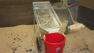 The Shaker is a stall cleaner and bedding sifter, stall cleaning machine..