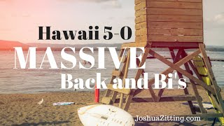 back and bicep massive back hawaii 5 0 workout