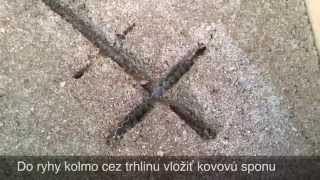 Zošívanie trhlín v betónovom podklade