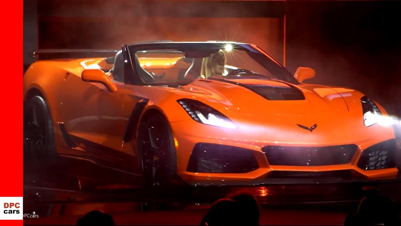 2019 Corvette Zr1 Convertible Unveiling Youtube