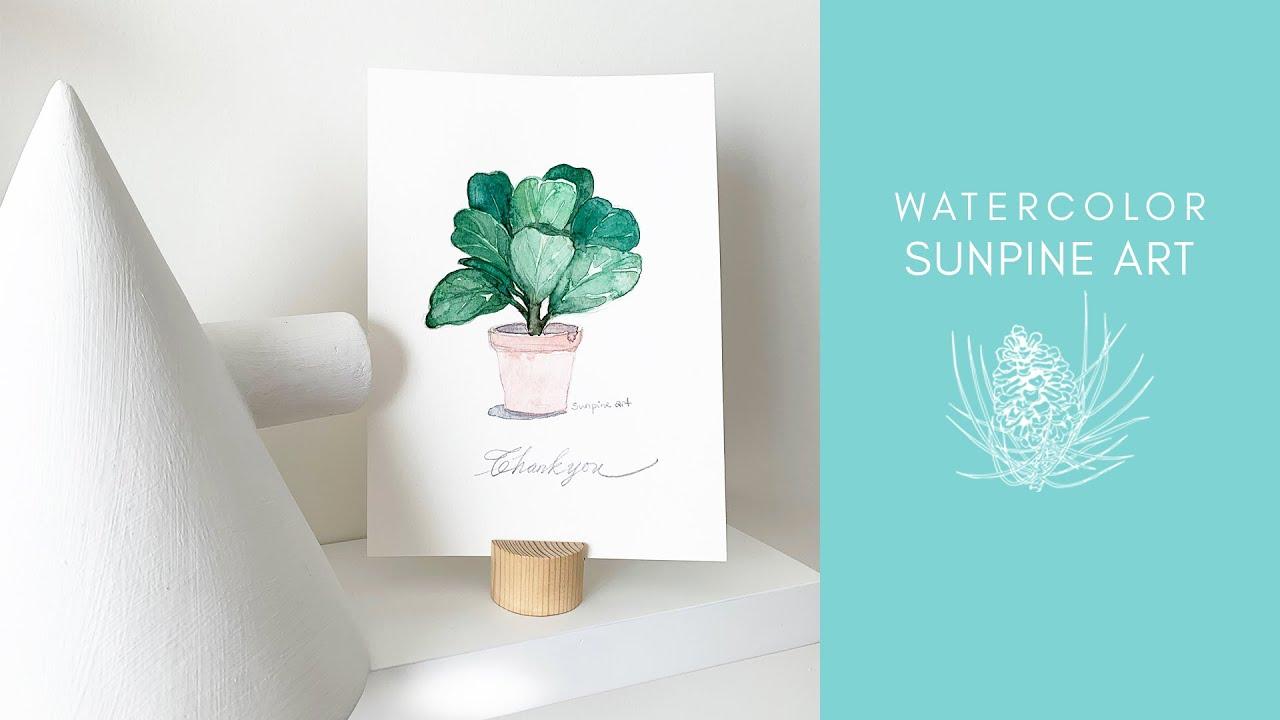 [Vẽ Màu Nước] Hướng Dẫn Vẽ Chậu Cây Đơn Giản   WATERCOLOR FOR BEGINNERS   Tổng hợp những kiến thức liên quan vẽ cây đơn giản nhất đầy đủ nhất